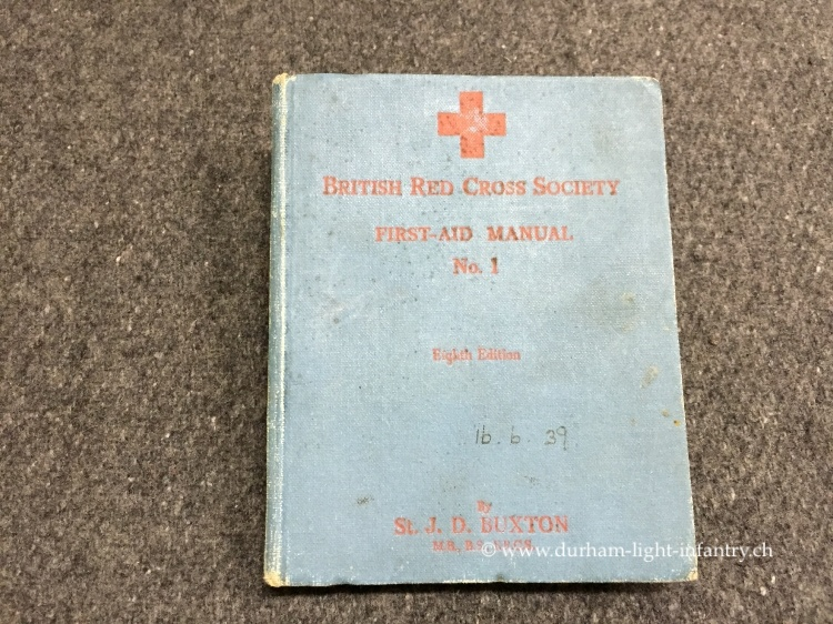 First Aid Manual No. 1 - British Red Cross Society