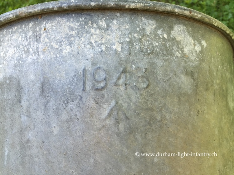 British Officer Galvanized Steel Foot Bath
