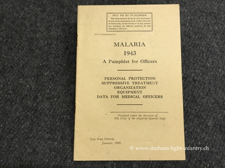 Malaria 1943 - A Pamphlet for Officers