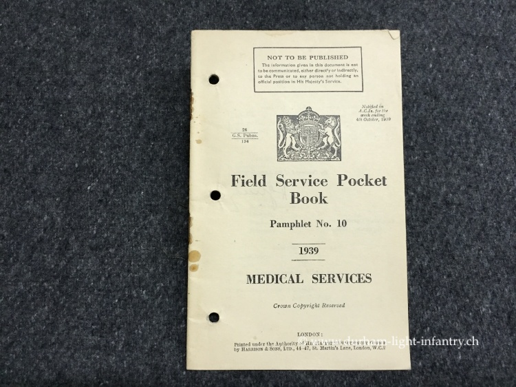 Field Service Pocket - Pamphlet No. 10 - Medical Service