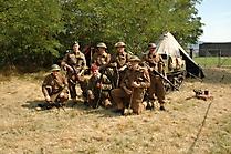 Gruppenbild der britischen Truppen